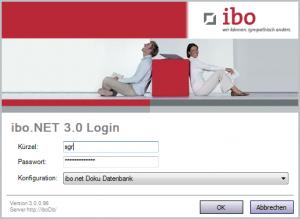 Anmelden-Dialog in ibo.NET