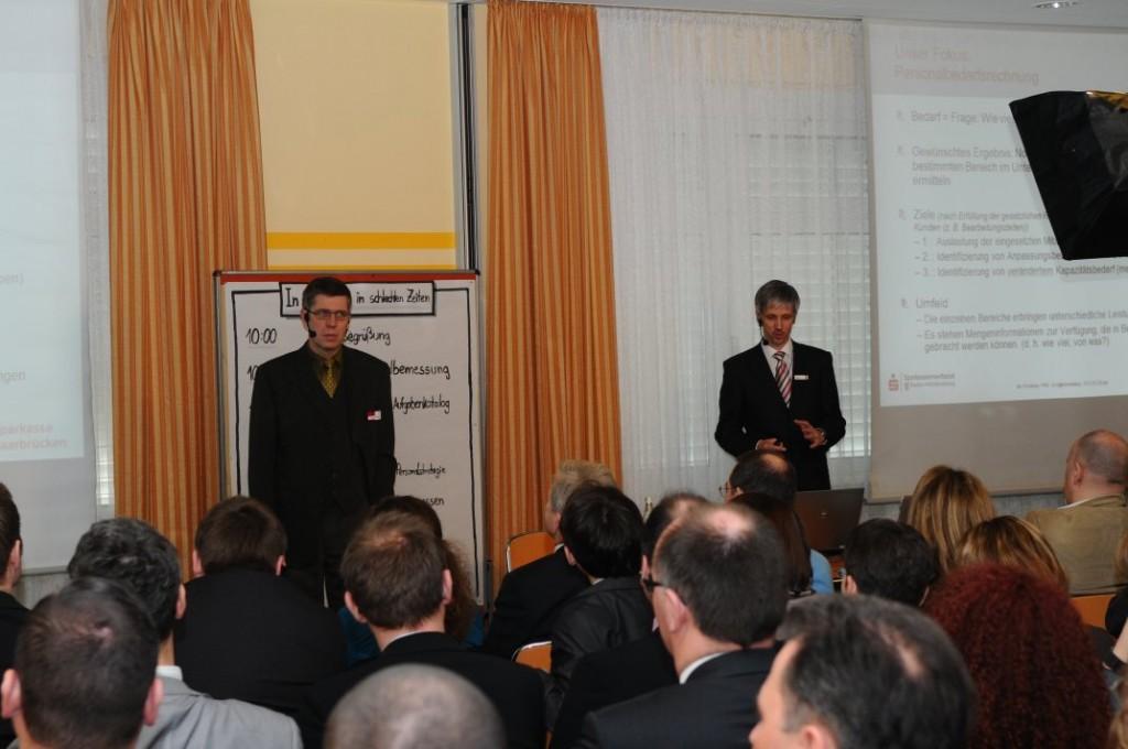 Frank-Peter Fuhr und Marc Harras auf dem Praxistag Personalbemessung