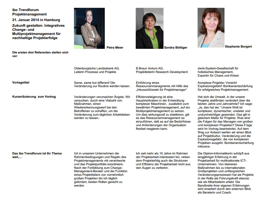 Zukunft gestalten: Integratives Change- und Multiprojektmanagement, Teil 1