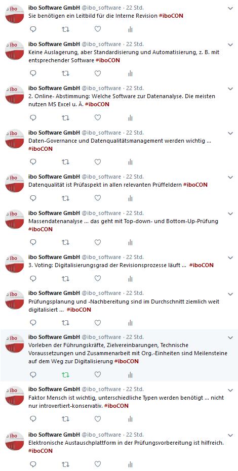 Tweets zum digitalen Revisionsprozess 2