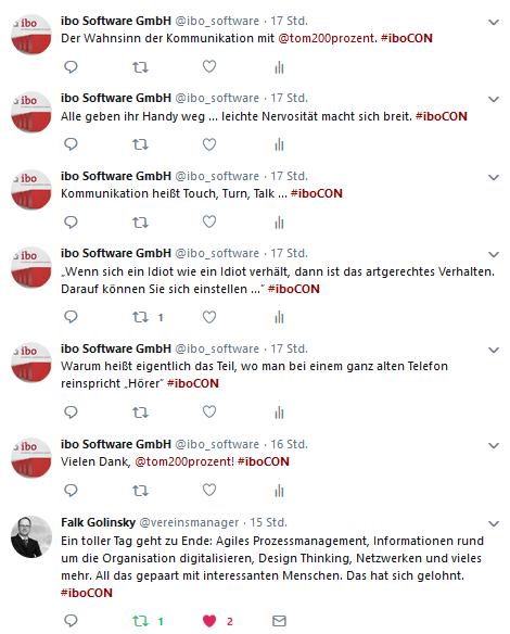 Abschluss-Tweets zur iboCON