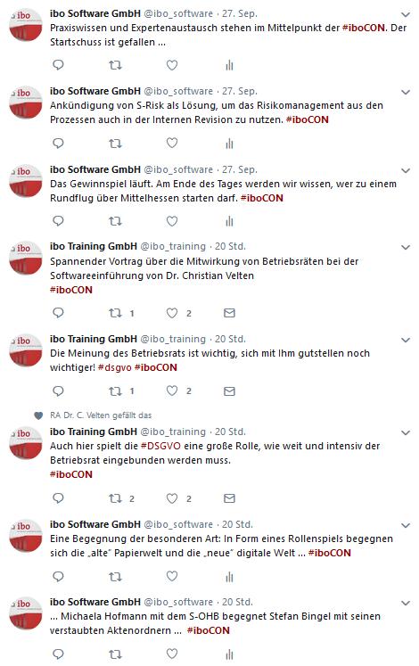 Weitere Tweets zur iboCON