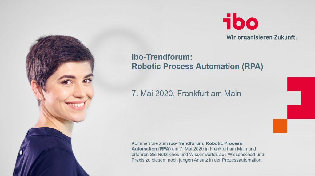 ibo Trendforum Robotic Process Automation