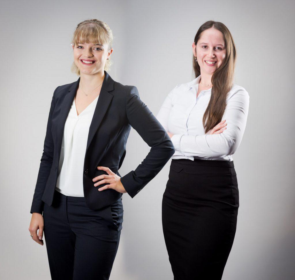 Organisatorinnen der ibo WebCON: Lara Ihring und Lorena Neust